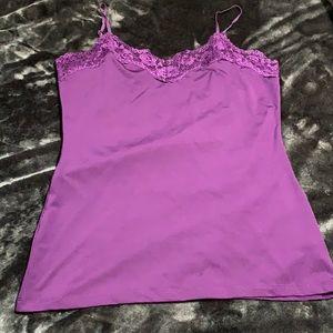 Deep purple lace camisole